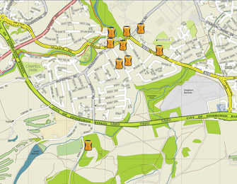 Colinton Defib Map